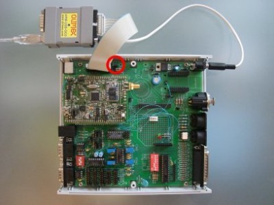 Our Sceptre / InterSceptre system. Remember to fit JP7 on the InterSceptre to enable the JTAG port.
