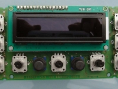 LCD 2x16, 9 rotary encoders, two pushbuttons