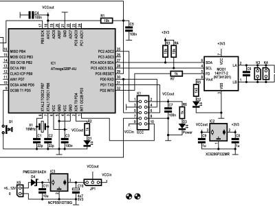 Main schematic of NFC Gateway (140177-1 v1.1)