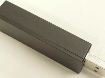 PCB 140344-1 v1.1 inside a black USB case