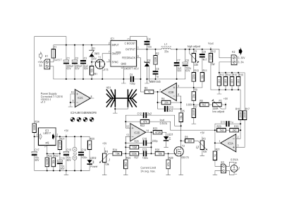 Schematic of the 30 V-3 A SMPS (150161-1 v1.1)