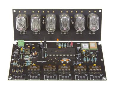 Nixie clock on black PCB