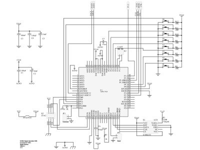 Schematic of digital section of DDS Function Generator (150210-1 v1.1)