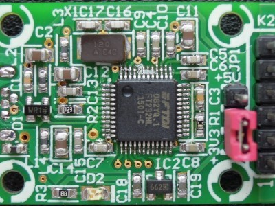 Top view of PCB 150387-1