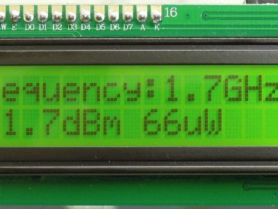 Example 1 at 1.7 GHz - frequency (Prototype of RF Power meter (160193 v1.0)