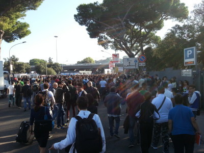 Opening day (Friday) started with school morning. Thousands of schoolkids everywhere.