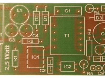 2,5 Watt Version - einseitige Leiterplatte 35 x 78 mm