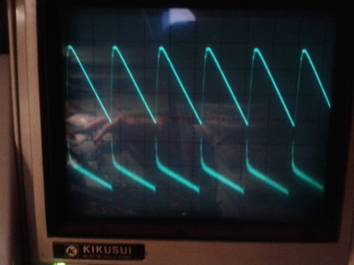 270 kHz sawtooth using wave select