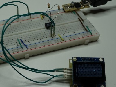 Here it is connected to a EEprom on a breadboard with variable address input