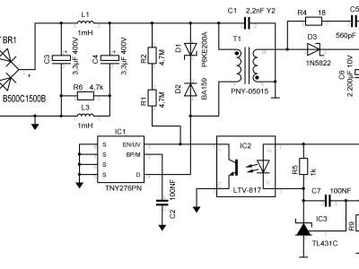 7,5 Watt - Out 5 VDC @ 1.500 mA max.