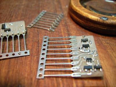 Using Chip-Pin-Strips (SIL9-Leadframes) for BA662-OTAs