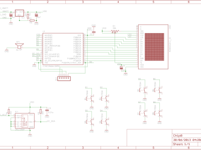 Chip 8 Schematics V1