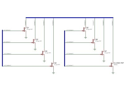 Common driver using FETs