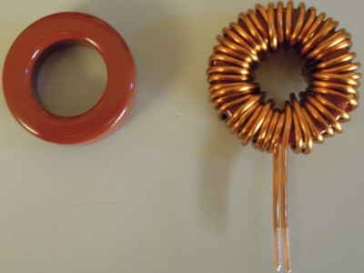 The bare core and finished inductor