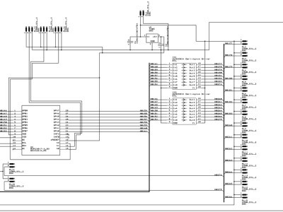 The schematic for the I2C driver board undocumented WIP