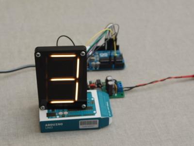 First test setup using an Arduino
