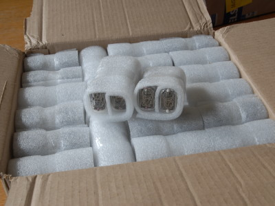 delivery of the Nixie tubes from Russia