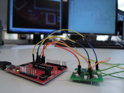 Prototype under development with the MSP430 LaunchPad...