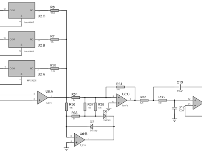 Current-to-Voltage with selectable gain and RMS converter for the signal