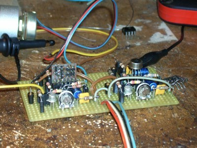 Parameter-Test with Vero-PCB, CA3080A and 1994 made Module