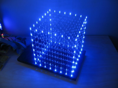 Single color LED cube as seen in Instructables