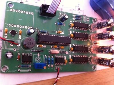 Prototype Elektor board being populated