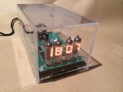 Clock in its new case !