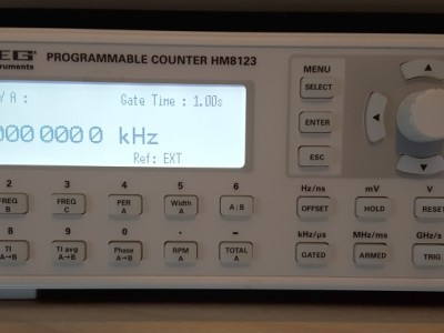 Frequency measurement of the 10kHz output of a Navman Jupiter GPS receiver.