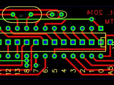 Single layer -ATM board (only 5 wirebridges)
