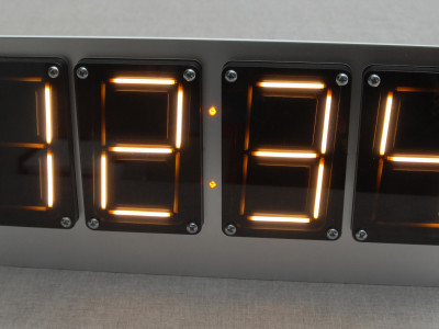 Test setup with 4 displays controlled via an Arduino Uno