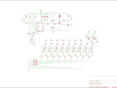 Schematic for driving 2 displays (multiplexed)