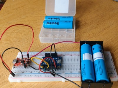 LiFePO4 batteries, directly powering a 3.3V project