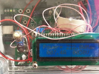 very first prototype testing a panel