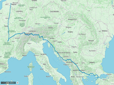 I cycled 3,800km in 16 days, with more than 50,000m of climbing through the Alps, Dolomites and Balkans.