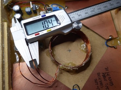 Thickness of the enamelled copper wire for the transmitter (and receiver) coils