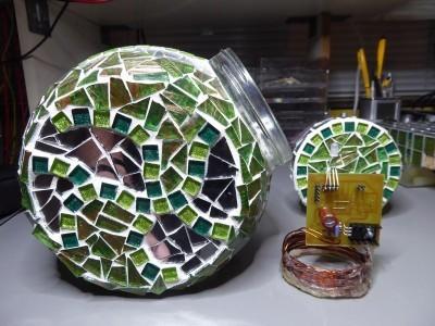 Wireless power receiver put into the glass work