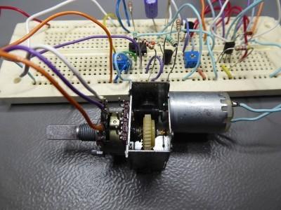 Close up of the servo potmeter (50K logarithmic)
