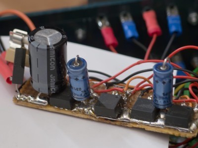 Power electronics on separate pcb.