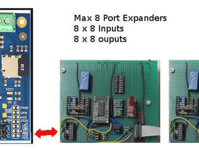 Maximal 8 Port_Expanders = 64 inputs / 64 outputs