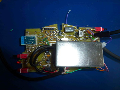 Receiver, shielded box (analog circuitry) closed