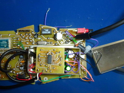 Receiver, shielded box (analog circuitry) opened
