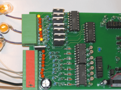 Isolated 24 Volt module with 8 inputs and 8 outputs.