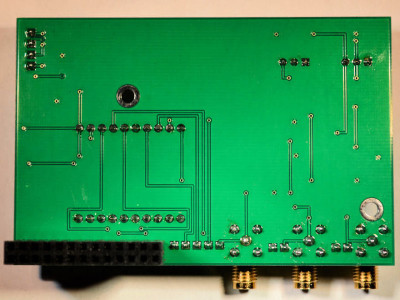 The completed RPi Wobbulator PCB (bottom view)