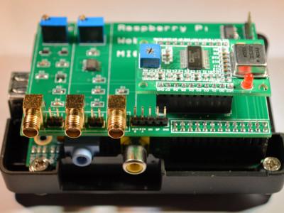 The fully assembled Raspberry Pi Wobbulator