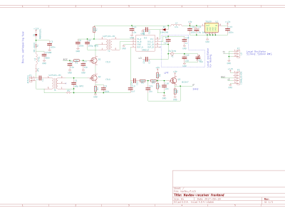 Schematic of the RF frontend