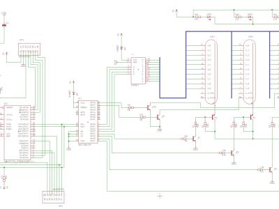 Clock schematic (without high voltage converter)