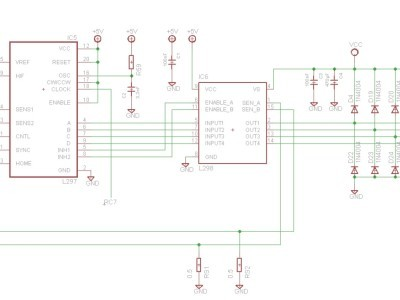 Schematic PCB stepper motor controlling