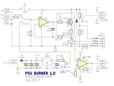Schematic PSU burner
