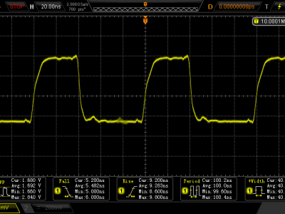 Scope image of the 10MHz signal