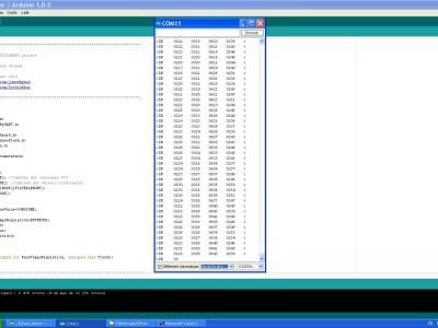 Software under Arduino + Serial terminal